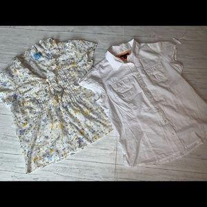 TOMMY HILFIGER & CeCe blouses LG LARGE VINTAGE